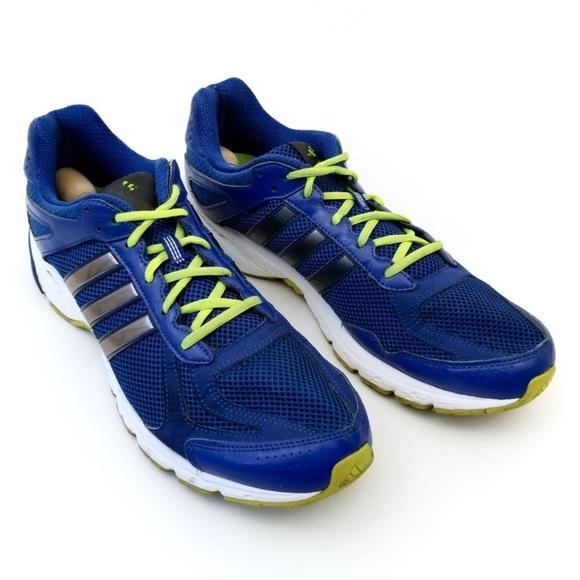 Adidas Men Blue Neon Green Running Shoe